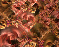 Pink and Gold Swirl Background Royalty Free Stock Photo