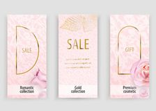 Pink gold vector marble background for wedding, cosmetic, 8 march, parfume shops. Pink gold vector marble background for wedding, cosmetic, 8 march, parfume royalty free illustration