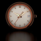 Pink gold watch. Royalty Free Stock Photo