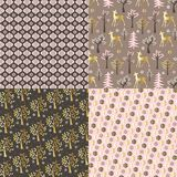 Pink gold winter patterns Royalty Free Stock Photo