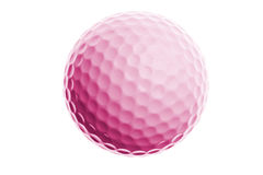 Pink golf ball isolated on white Stock Image