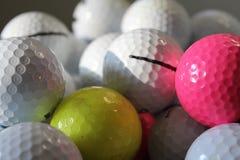 Golf balls colorful stock photo