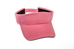 Pink golf visor for man or woman Stock Photo