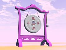 Pink gong - 3D render Royalty Free Stock Image
