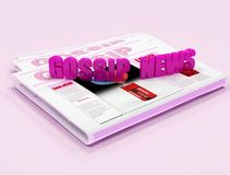 Pink gossip news. Gossip News on pink background - digital artwork Stock Images