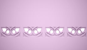 Pink gothic ornament Royalty Free Stock Image