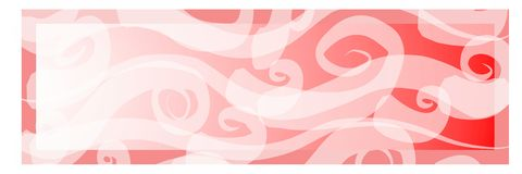 Pink Gradient Art Banner Stock Photography