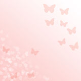 Pink gradient background with butterflies Royalty Free Stock Photos
