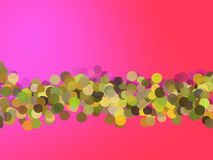Pink gradient with round highlights Royalty Free Stock Images