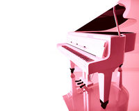 Pink grand piano. Royalty Free Stock Photos