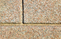 Pink granite blocks. Used as a constrution material Stock Image