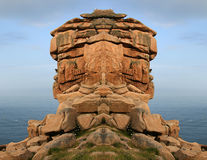 The Pink Granite Coast in Bretagne Stock Images