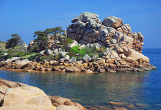 Pink Granite Coast,Brittany Royalty Free Stock Photography