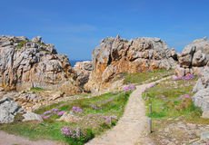 Pink Granite Coast,Brittany Stock Photos