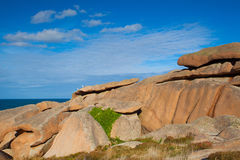 Pink Granite Coast in Brittany , France. Stock Image