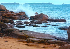 The Pink Granite Coast (Brittany, France). Stock Images