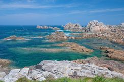 Pink Granite Coast,Brittany,Ploumanach Royalty Free Stock Image