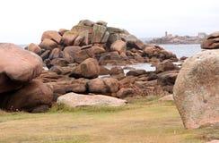 Pink granite coast Royalty Free Stock Photography