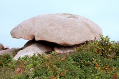 Pink granite coast Royalty Free Stock Images