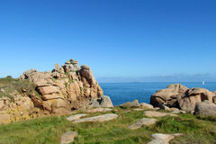 Pink Granite Coast in France royalty free stock image