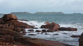 The Pink Granite Coast (France). stock video