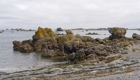 Pink Granite Coast Royalty Free Stock Image