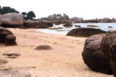 Pink granite coast Royalty Free Stock Photos