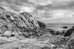 Pink granite rocks Royalty Free Stock Photography