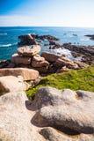 Pink Granite rocks Stock Photography