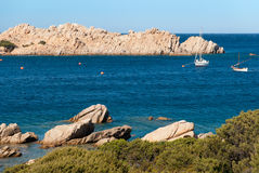 Pink granite in Sardinia Royalty Free Stock Photos