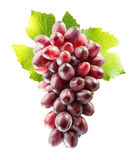 Pink grape isolated on the white background Royalty Free Stock Photography