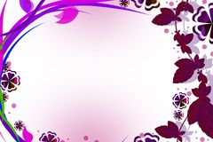 Pink grape wine border, abstract background Stock Photo