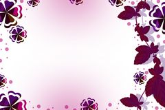 Pink grape wine right side , abstract background Stock Photo