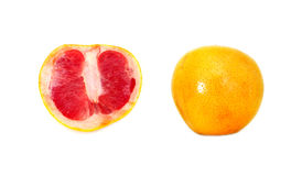 Pink grapefruit. Pink  grapefruit fruit citrus on white background Royalty Free Stock Images