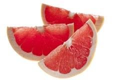 Pink Grapefruit. Stillife of pink grapefruit on translucent background Royalty Free Stock Photos