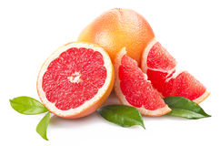 Pink grapefruit Stock Images