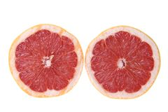 Pink Grapefruit Cut in Half Stock Photos