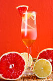 Pink grapefruit drinks Stock Photo
