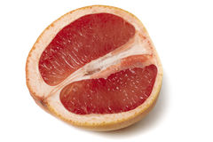 Pink grapefruit halve Stock Image