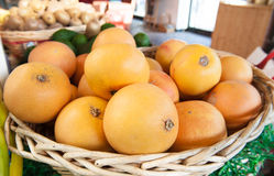 Free Pink Grapefruit Heap In Market Shelf Royalty Free Stock Photo - 63725405