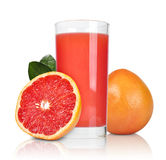 Pink grapefruit juice Royalty Free Stock Photography