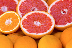 Pink Grapefruit. Some Grapefruit in the supermarket Royalty Free Stock Photography