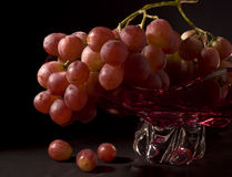 Pink Grapes. In a vase royalty free stock photos