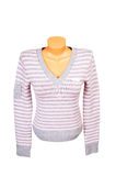 Pink-gray jumper on a white. Royalty Free Stock Photography