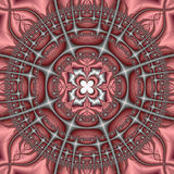 Pink and Gray Kaleidoscope Stock Images