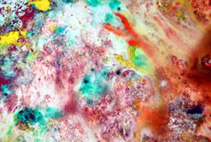 Pink gray orange smoky pastel colors, bright pastel paint acrylic watercolor background, colorful texture. Watercolor painting bright fluid smoky abstract royalty free stock photos