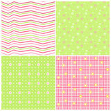 Pink-green baby seamless. Stock Image