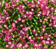 Pink and green beads Stock Photo