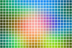 Pink green blue abstract rounded mosaic background over white Royalty Free Stock Photos