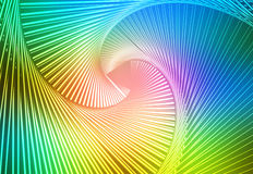 Pink green blue glowing spiral background Royalty Free Stock Photo